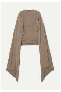 Deveaux - Cape-effect Cashmere Sweater - Mushroom