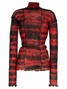 Asai tie-dye long sleeve top - Red
