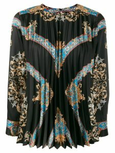 Sandro Paris brocade print pleated blouse - Black