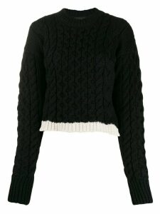 Joseph cable knit cropped jumper - Black