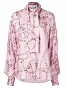 Victoria Beckham tie neck blouse - PINK