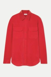 Equipment - Slim Signature Washed-silk Shirt - Red