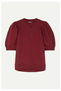 Ulla Johnson - Rami Cotton-jersey Sweatshirt - Burgundy