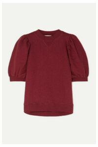 Ulla Johnson - Rami Cotton-jersey Sweatshirt - Burgundy