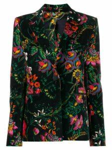 Paco Rabanne floral print single-breasted jacket - Black