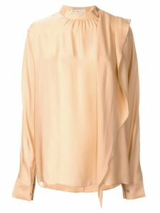 Rejina Pyo Ira draped satin blouse - ORANGE