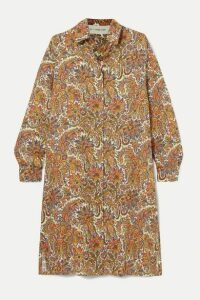 Etro - Paisley-print Wool And Silk-blend Dress - Beige