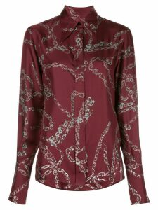 Victoria Beckham chain-print shirt - Red