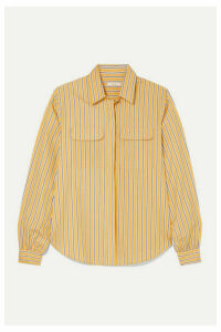 MATIN - Striped Cotton-poplin Shirt - Yellow