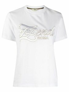 Fendi embroidered FF Karligraphy T-shirt - White