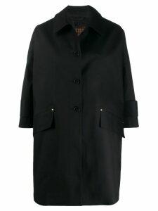 Mackintosh mid-length single breasted coat - Black