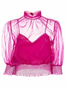 Cinq A Sept Cleo cropped blouse - PINK