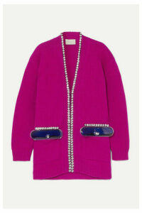 Christopher Kane - Oversized Embellished Wool Cardigan - Pink