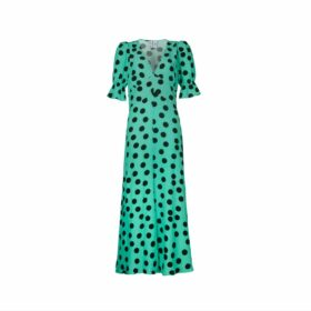 IGGY & BURT - Leopard Print Jumper In Forest Green