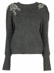 Veronica Beard Valerie crystal-embellished jumper - Grey