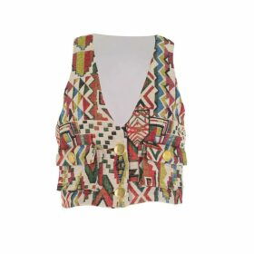 relax baby be cool - Multicolour Cropped Vest With Pockets