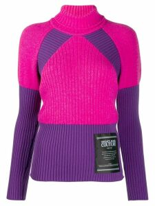 Versace Jeans Couture ribbed knit roll-neck jumper - Purple