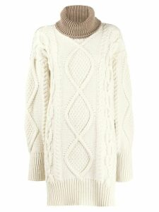 Joseph turtle neck cable knit jumper - NEUTRALS