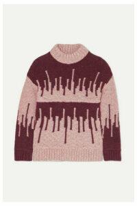 Holzweiler - Wenge Intarsia Merino Wool-blend Sweater - Pink