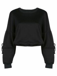 Koral Trivia Valo cropped sweatshirt - Black