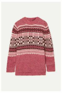 Holzweiler - + Skappel Beryll Fair Isle Knitted Sweater - Pink