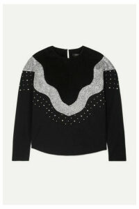 Isabel Marant - Valia Embellished Wool And Cotton Sweatshirt - Black