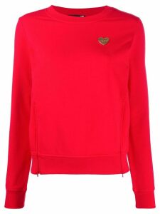 Love Moschino heart plaque relaxed-fit sweatshirt - Red