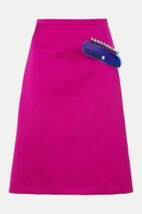 Christopher Kane - Embellished Satin Skirt - Pink