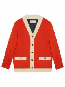 Gucci contrast detail cardigan - Red