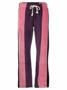 Champion panelled straight-leg track trousers - PURPLE