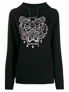 Kenzo logo embroidered hoodie - Black