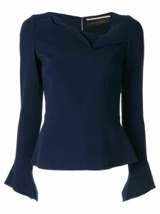 Roland Mouret Boronia long sleeved top - Blue