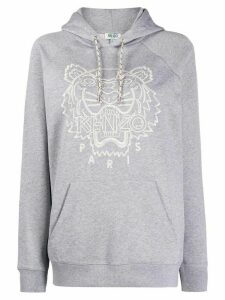 Kenzo logo embroidered hoodie - Grey