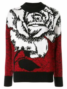 MSGM intarsia knit rose jumper - Red