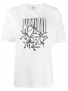 Kenzo logo print T-shirt - White