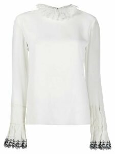 Chloé frilled trim blouse - White
