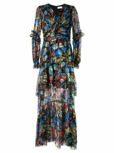 Peter Pilotto iridescent Georgette gown - Black