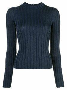 Vince ribbed mock neck sweater - Blue