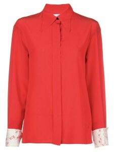 Victoria Beckham printed cuffs buttoned shirt - ORANGE
