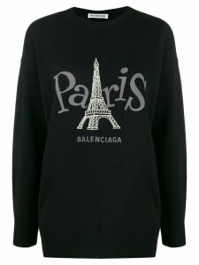 Balenciaga Paris Joy crew neck jumper - Black
