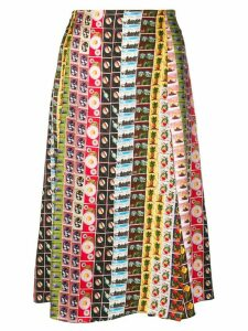 Paul Smith high waisted stamp skirt - Brown