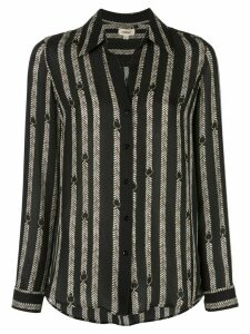 L'Agence belt print shirt - Black