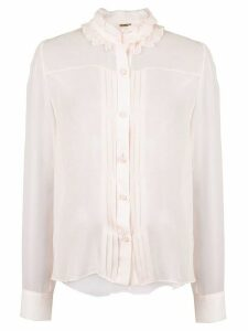 Adam Lippes pleated front blouse - PINK