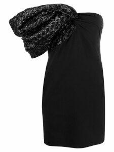 Saint Laurent one shoulder cocktail dress - Black