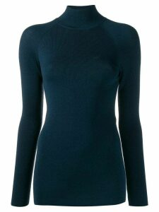 Fendi embroidered FF Karligraphy motif jumper - Blue