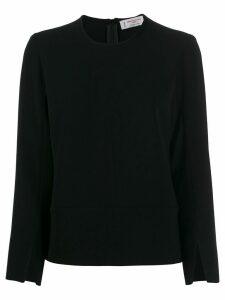 Alberto Biani slit cuff blouse - Black