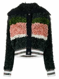 M Missoni panelled shearling cardigan - Black