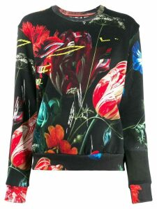Paul Smith graphic floral print sweatshirt - Black