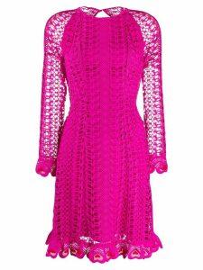 Temperley London Sunbird heart-shaped embroidery dress - PINK