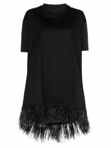 Marques'Almeida feather-hem T-shirt - Black